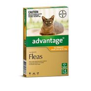 Advantage Orange 4pk Cats up to 4kg