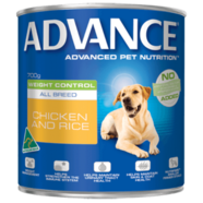 Advance Canine Weight Control All Breed Chicken Rice 700g x 12