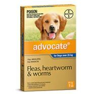 Advocate Extra Large Dog SINGLE DOSE Blue for dogs over 25-40kg