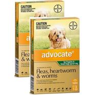 Advocate for Small Dogs up to 4kg green Spot on  6 pack