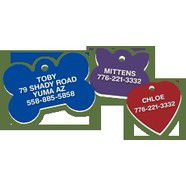 Bow Wow Plastic Engraved Pet Tag