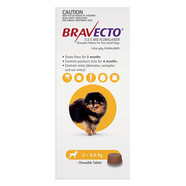 Bravecto for  Very Small Dogs 2-4.5kg Single Chew