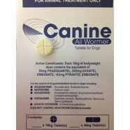 Canine All wormer 10kg Tablet valueplus