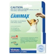 Canimax Small Dog -  5kg pack of 4 tablets