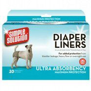Diaper Liners Heavy Absorbancy Large Pack of 10