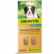 Drontal 10kg Chews pack of 2