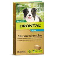 Drontal 10kg Chews pack of 20
