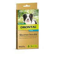 Drontal 10kg Chews pack of 5