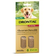 Drontal 35kg Chews pack of 2