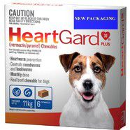 Heartgard Plus Blue 6 pack- Dogs up to 11kg  Monthly Chews for Small Dog