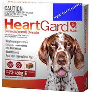 Heartgard Plus Brown 6 pack - Dogs 23-45kg, Heartworm montlhy Chews