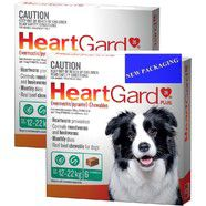 Heartgard Plus Green 12 pack - Dogs 12-22kg Monthly Heartworm Chews