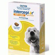 Interceptor Green Chews 3 pack small dogs 4-11kg