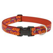 Lupine 16-28 Large Dog CollarGo Go Gecko  1 inch thick, Adjustable 16-28 inches