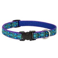 Lupine 13-22 Medium Dog Collar RAIN SONG  3/4 inch thick, Adjustable 13-22 inches