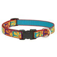 Lupine 15 -25 Medium Dog Collar Crazy Daisy 3/4 inch thick, Adjustable 15-25 inches