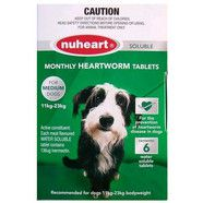 Nuheart Heartworm Tablets for medium dogs 11-23kg