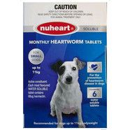 Nuheart Heartworm Tablets for small dogs up to 11kg