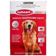 Nuheart heartworm Tablets for Large dogs 23 - 45kg 6pk