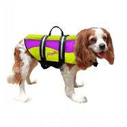 Pawz Neoprene Doggy Life Jacket Extra Small Yellow/Purple