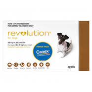 Revolution Brown 6pk - Dogs 5 - 10kg * Plus FREE Canex tablets*