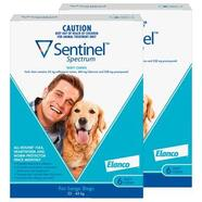 Sentinel Spectrum Blue 12 pack Chews For Large Dogs  23-45kg