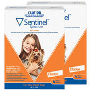 Sentinel Spectrum Brown 12 pack Chews for Very Small dogs Up to 4kg