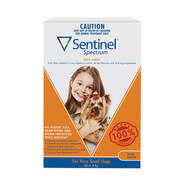 Sentinel Spectrum Brown 3 pack For Very Small Dogs up to 4kg