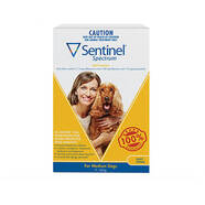 Sentinel Spectrum Yellow 3 pack Chews for Medium Dogs 11-22kg