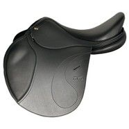 "Tekna S4 Jumping Saddle 16.5"" Black"