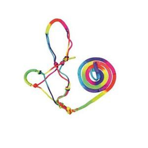 Bambino Knotted Halter and Lead Rainbow PONY