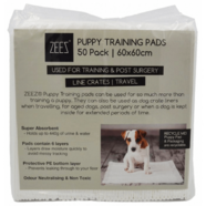 ZeeZ Puppy Training Pads 60cmx60xm 50pack