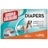 Simple Solutions Diapers Disposable Large pack of 12