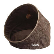 ZeeZ Pop Up Pet Cave w/Cushion Bark Brown