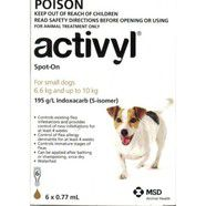 Activyl Flea Control for dogs 6.6 - 10kg 6 pack *OUT OF STOCK*