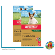 Advantix Green Dogs and Puppies up to 4kg 12 pck (2 x 6 packs) Flea and Tick Control