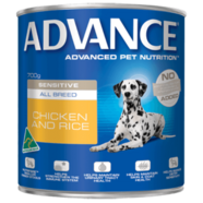 Advance Canine Sensitive All Breed Chicken Rice 700g x 12