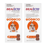 Bravecto for Small Dogs 4.5-10kg x 4 Chews (12 month treatment pack) *Plus Free Bravecto Reminder Timer*