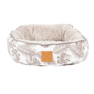 Mog & Bone 4 Seasons Mocha Tropical Leaves Circular Cat Bed