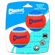 "Chuckit! MEDIUM 2.5"" Tennis Balls (6cm) Dia. 2pk"
