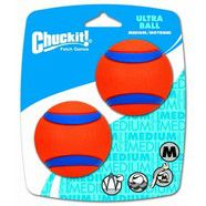 "Chuckit! Ultra Ball Medium 2.5"" (6cm) Diameter - 2pk"
