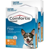 Comfortis Orange 12 pack for Small Dogs 4.6-9kg and Cats 2.8-5.4kg