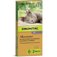 Drontal Cat 4kg Ellipsoid Worming Tablets x 2