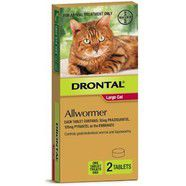 Drontal Cat 6kg Ellipsoid Worming Tablets x 2