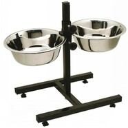 Adjustable Elevated Double Diner 2 x 4.0L bowls