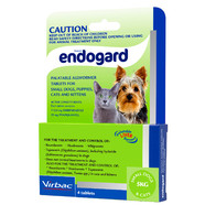 Endogard Allwormer for Small Dogs and Cats up to 5kg pack of 4 tablets