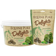 Equine Pure Delights Peppermint and Spinach with Parsley and Chia