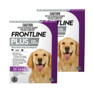 Frontline Plus Large Dog 12 pk - 20-40kg (2 x 6pks)