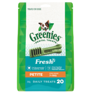 Greenies Petite FRESH MINT 340gm 20 treats per pack