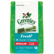 Greenies Regular FRESH MINT 340gm 12 treats per pack